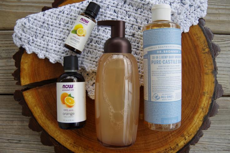 Foaming hand soap with Castile soap, lemon and orange essential oils.
