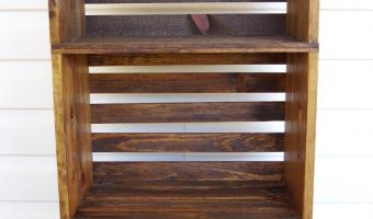 Assembled Three Tier Wooden Crate Bookshelf